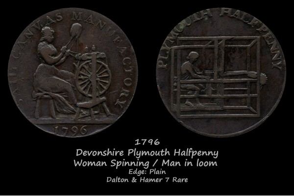 Devonshire Plymouth Halfpenny D&H7 Rare