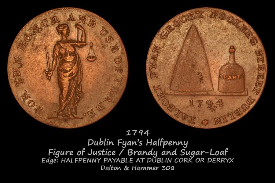 Dublin Fyan's Halfpenny D&H 308