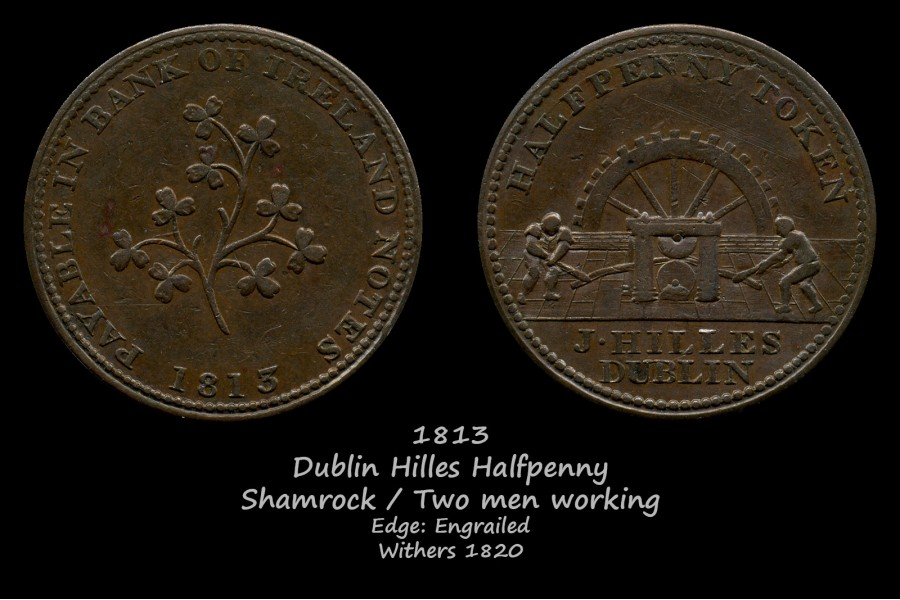 Dublin Hilles Halfpenny W1820