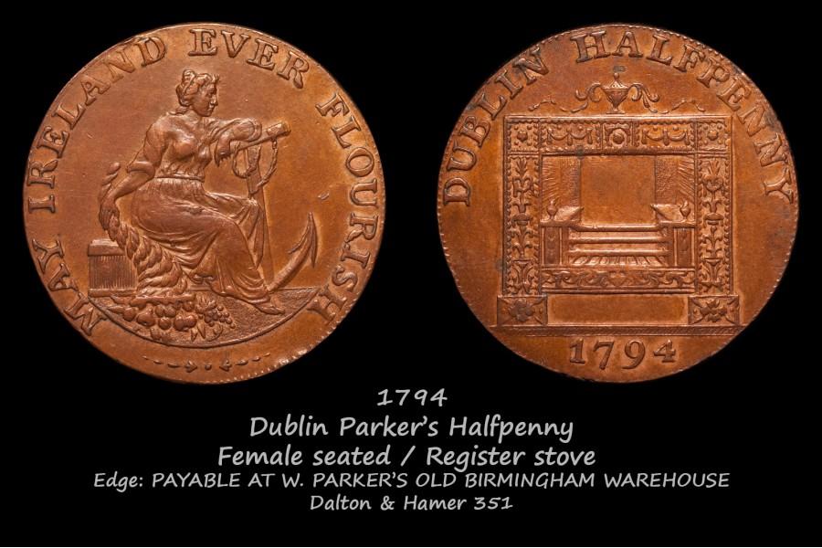 Dublin Parkers Halfpenny D&H 351