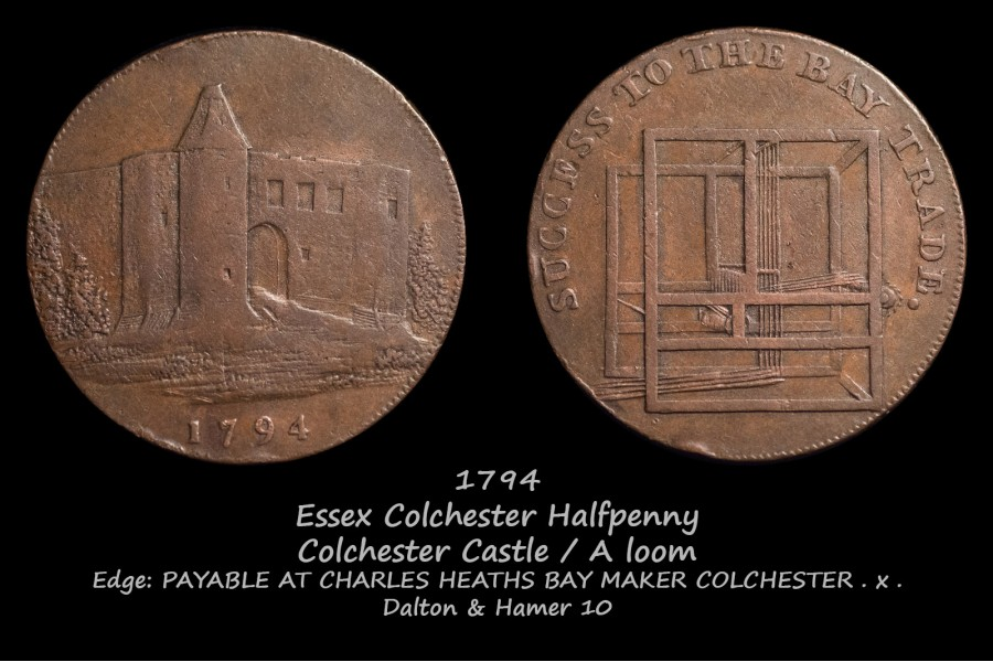 Essex Colchester Halfpenny D&H10