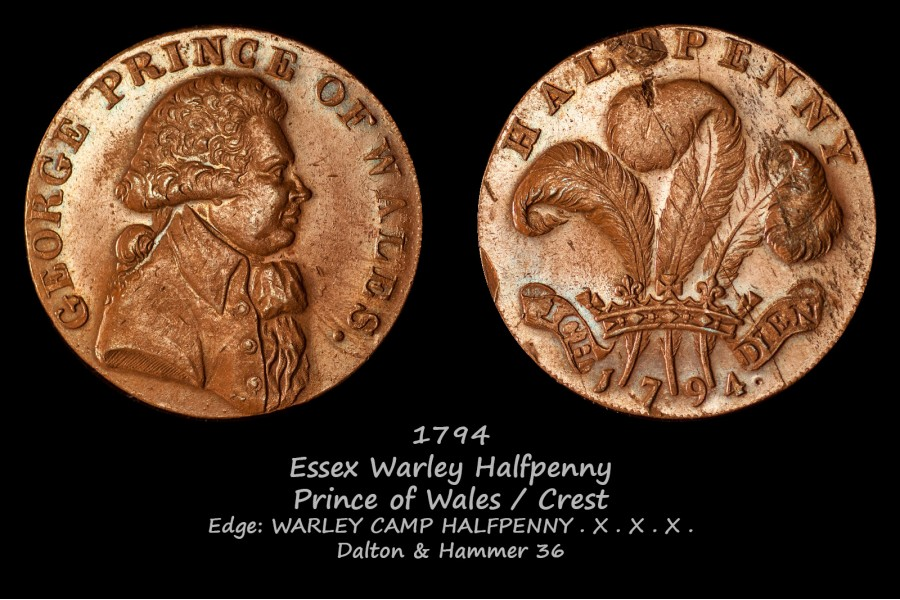 Essex Warley Halfpenny D&H 36