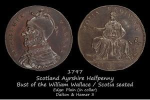 Scotland Ayrshire Halfpenny D&H3