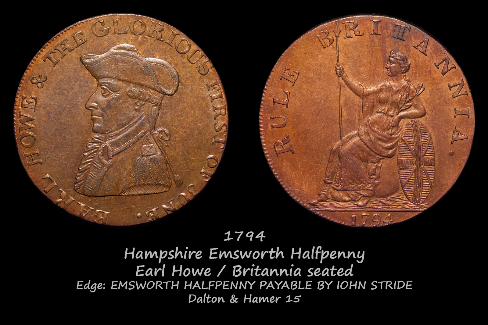 Hampshire Emsworth Halfpenny D&H15