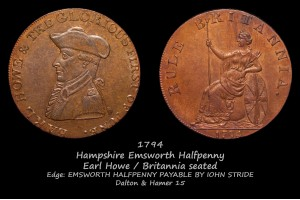 Токен Hampshire Emsworth Halfpenny D&H15 в галерее
