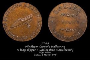 Токен Middlesex Carter's Halfpenny D&H275 в галерее