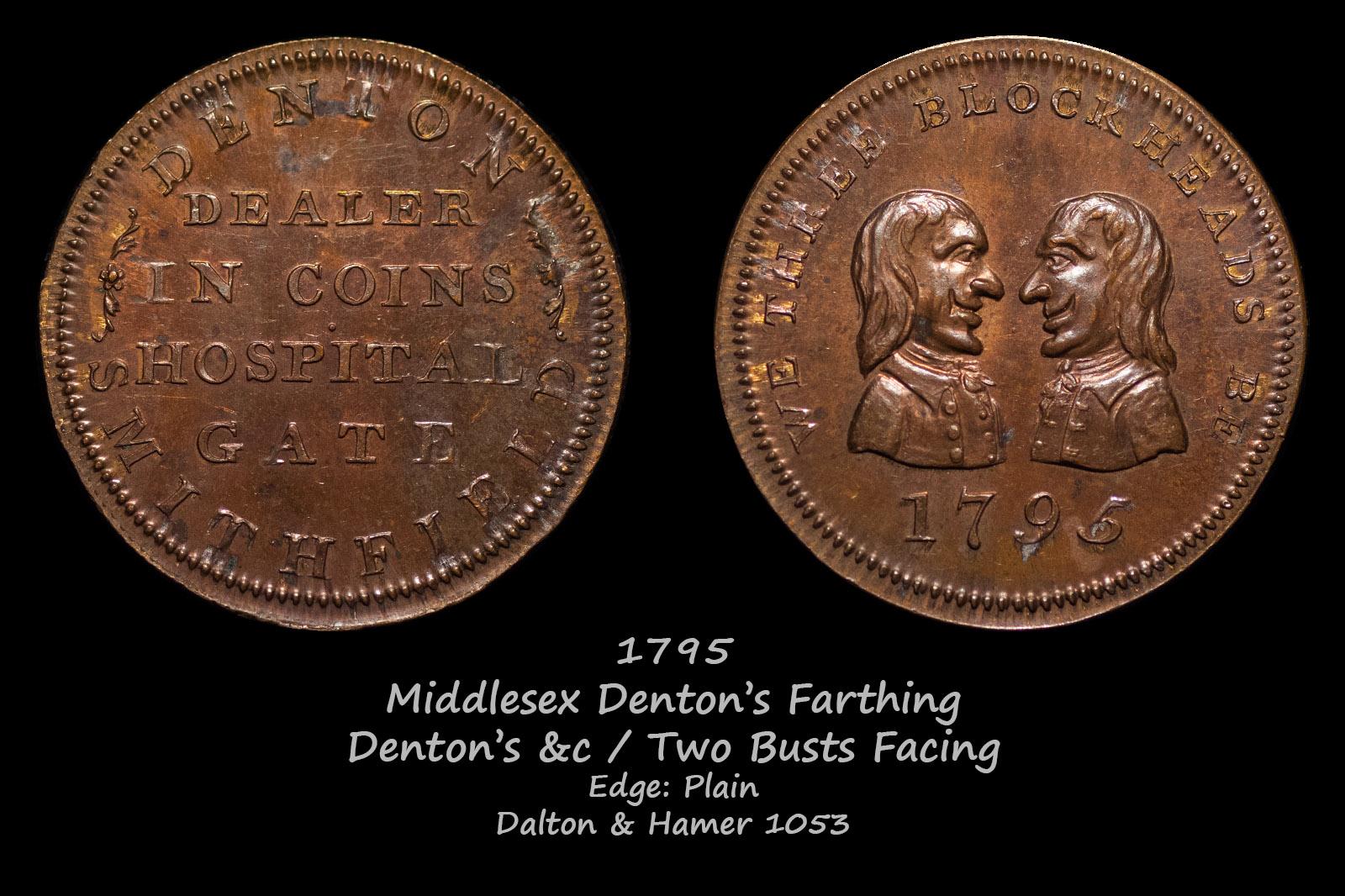 Middlesex Denton's Farthing D&H1053
