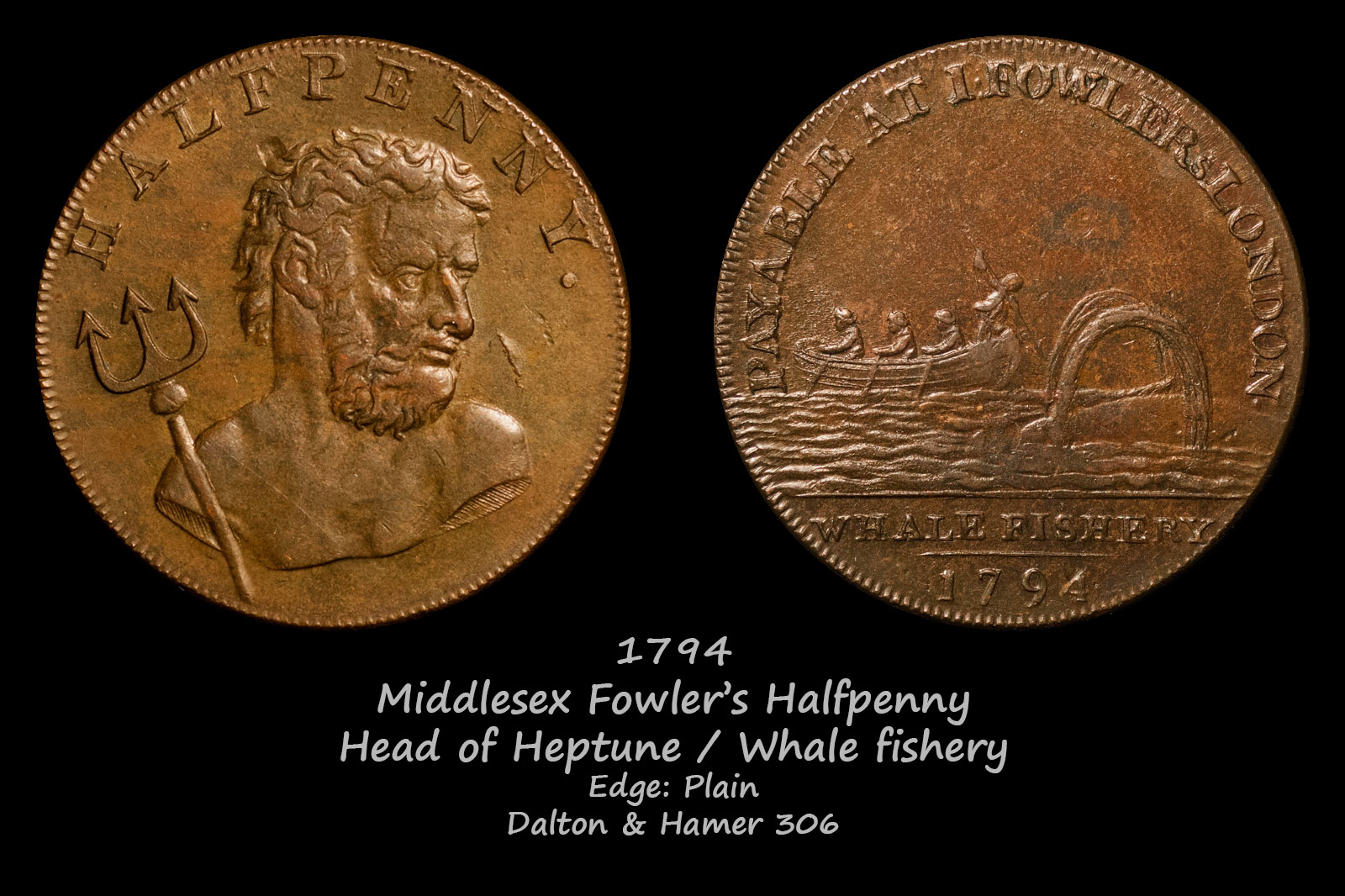 Middlesex Fowler's Halfpenny D&H306