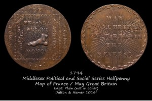 Токен  Middlesex Political and Social Series Halfpenny D&H1016f в фотогалерее