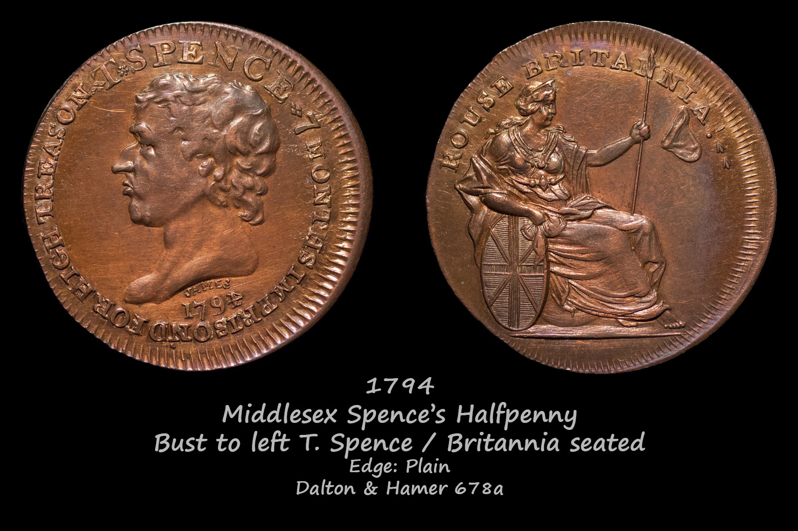 Middlesex Spences Halfpenny D&H678a