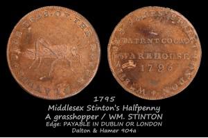Токен Middlesex Stinton's Halfpenny D&H904a в галерее