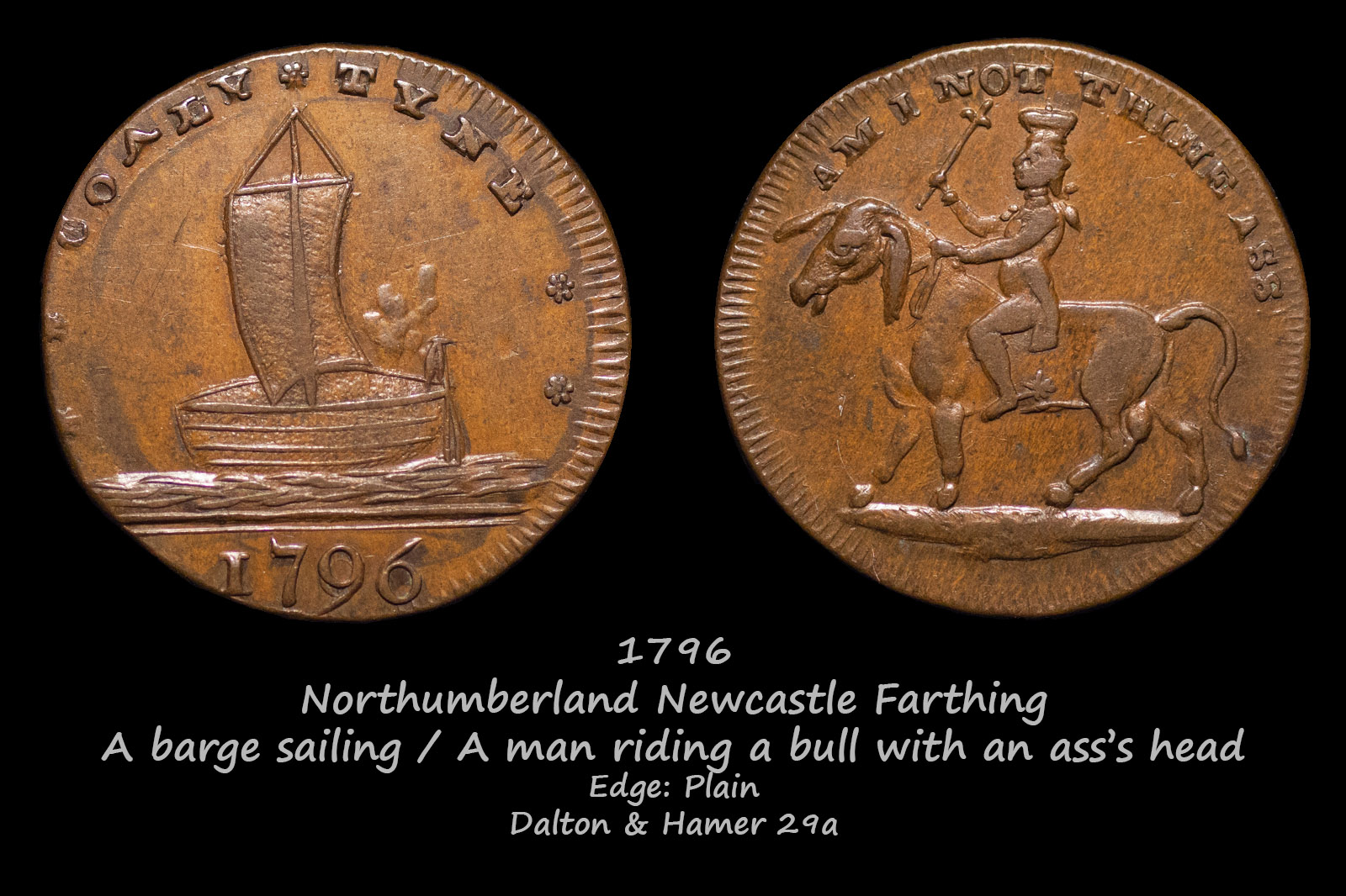 Northumberland Newcastle Farthing D&H29a