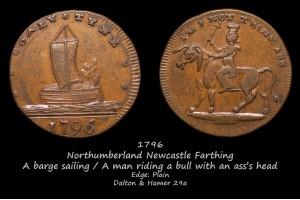 Токен Northumberland Newcastle Farthing D&H29a в галерее