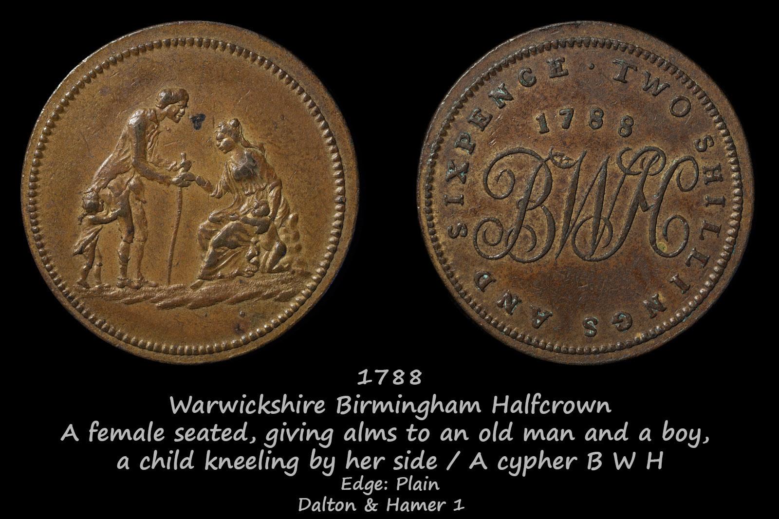 Warwickshire Birmingham Halfcrown D&H1