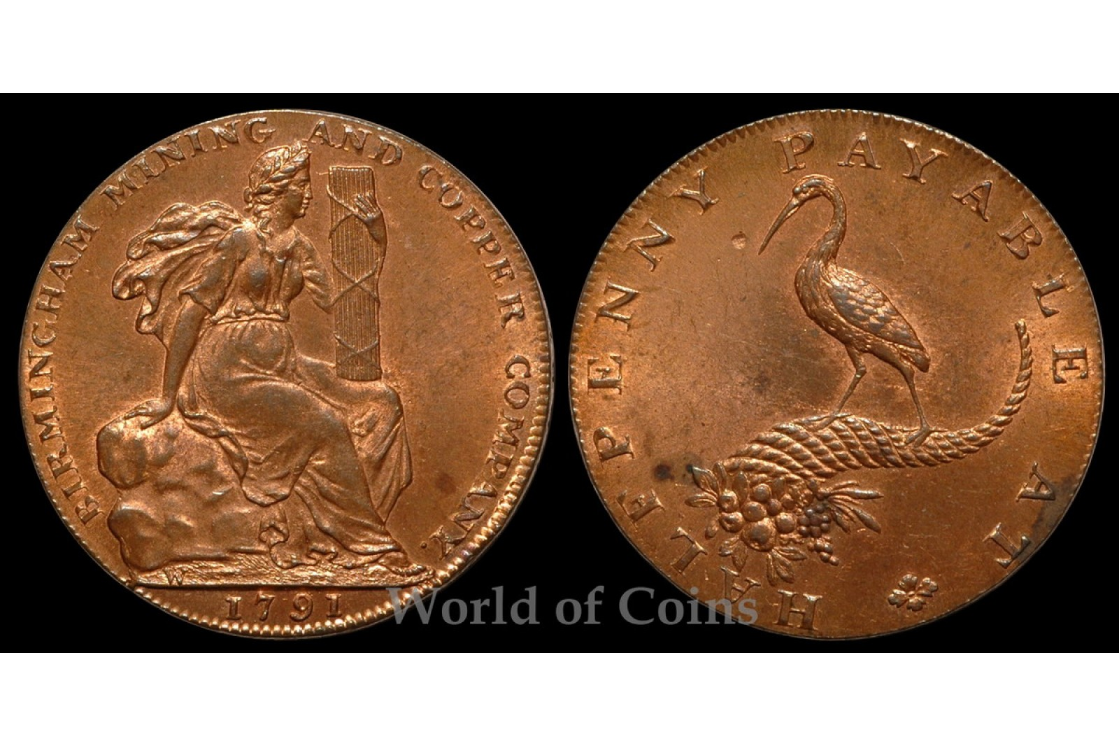 Warwickshire Mining Copper Company Halfpenny D&H77