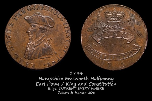 Hampshire Emsworth Halfpenny D&H20a