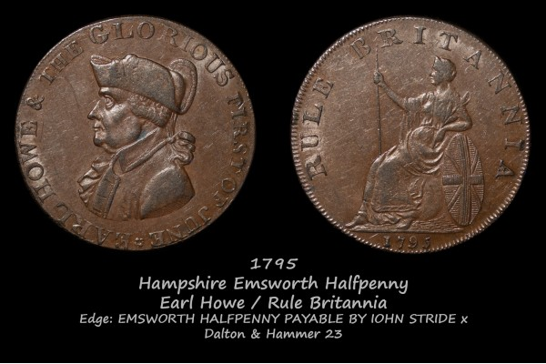 Hampshire Emsworth Halfpenny D&H 23