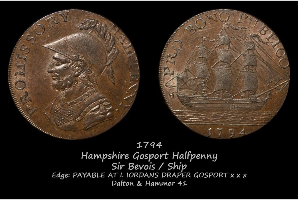 Hampshire Gosport Halfpenny D&H 41