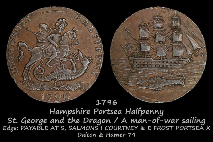 Hampshire Portsea Halfpenny D&H79