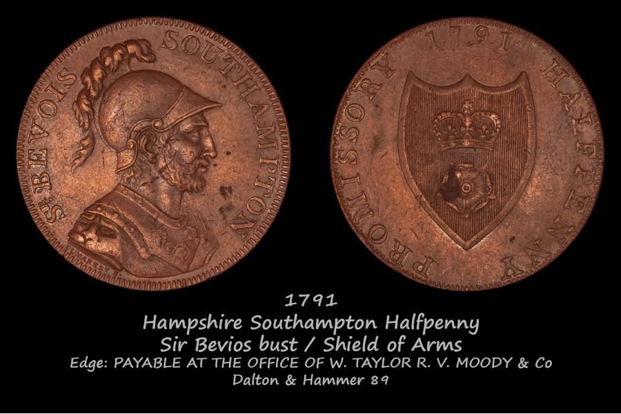 Hampshire Southampton Halfpenny D&H 89