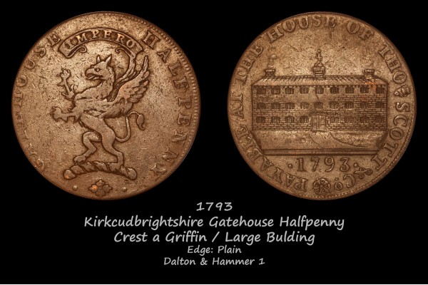 Kirkcudbrightshire Gatehouse Halfpenny D&H 1