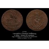 Lancashire Liverpool Halfpenny D&H79c RR