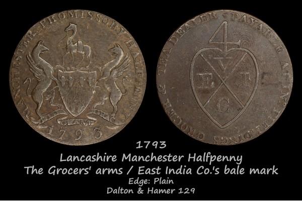 Lancashire Manchester Halfpenny D&H129
