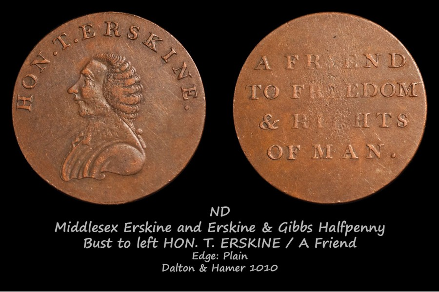 Middlesex Erskine and Erskine & Gibbs Halfpenny D&H1010