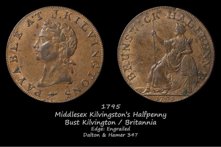 Middlesex Kilvingston's Halfpenny D&H347