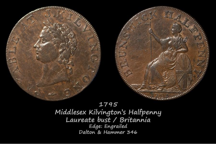 Middlesex Kilvington's Halfpenny D&H346