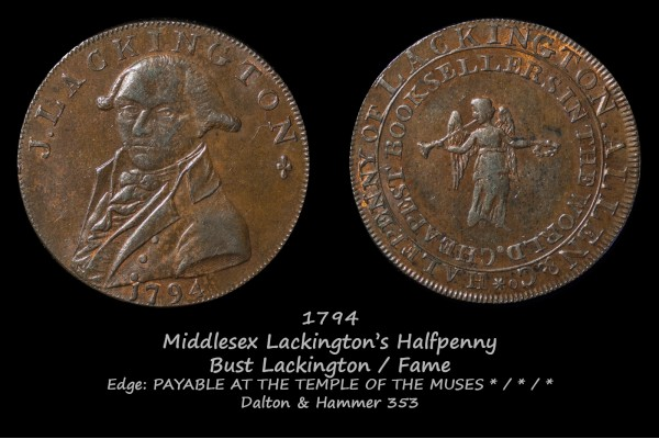Middlesex Lackington's Halfpenny D&H353