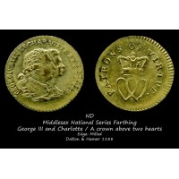 Middlesex National Series Farthing D&H1138 Позолочен