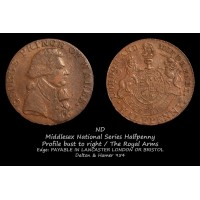 Middlesex National Series Halfpenny D&H954