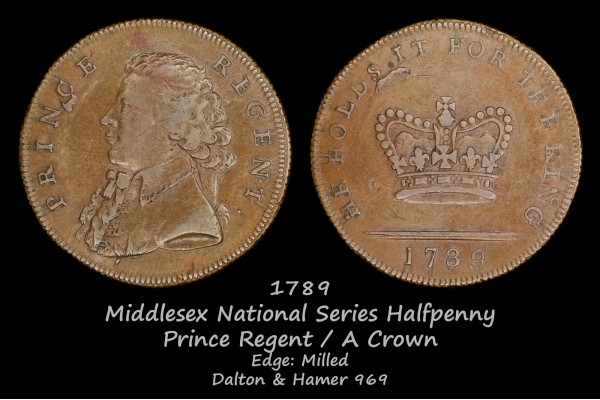 Middlesex National Series Halfpenny D&H969