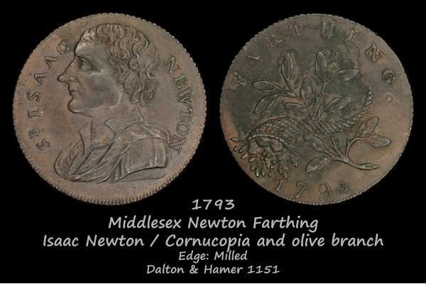 Middlesex Newton Farthing D&H1151