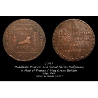 Middlesex Political and Social Series Halfpenny D&H1017f