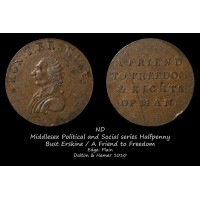 Middlesex Political and Social series  Erskine&Gibbs Halfpenny D&H1010