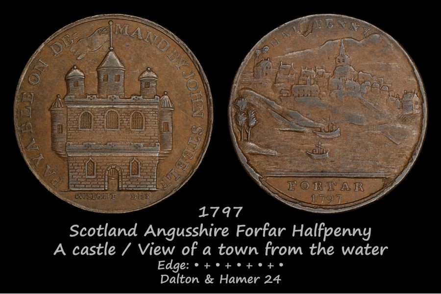 Scotland Angusshire Forfar Halfpenny D&H24