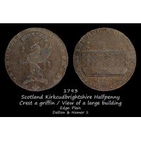 Scotland Kirkcudbrightshire Gatehouse Halfpenny D&H 1