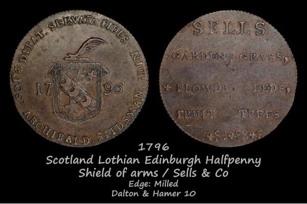Scotland Lothian Edinburgh Halfpenny D&H10