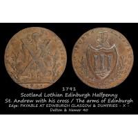Scotland Lothian Edinburgh Halfpenny D&H40