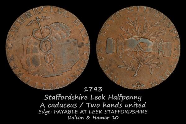 Staffordshire Leek Halfpenny D&H10