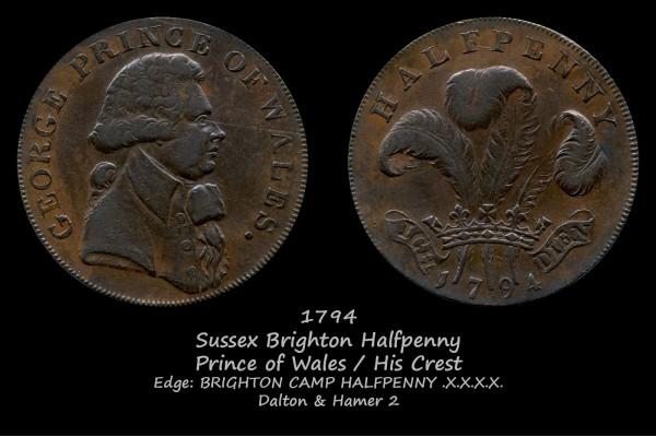 Sussex Brighton Halfpenny D&H2