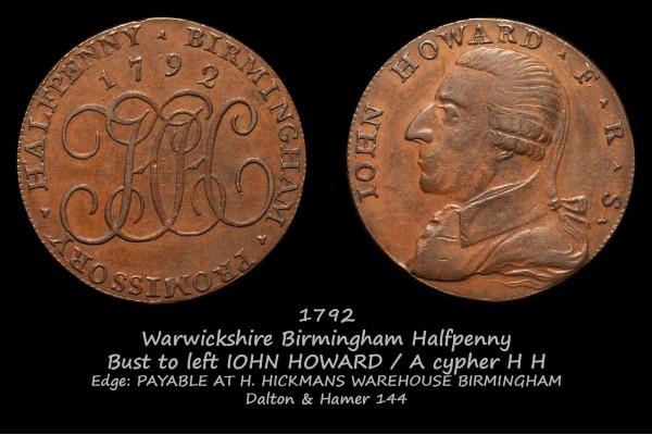 Warwickshire Birmingham Halfpenny D&H144