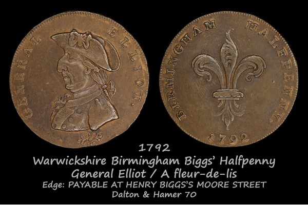 Warwickshire Birmingham Biggs' Halfpenny D&H70