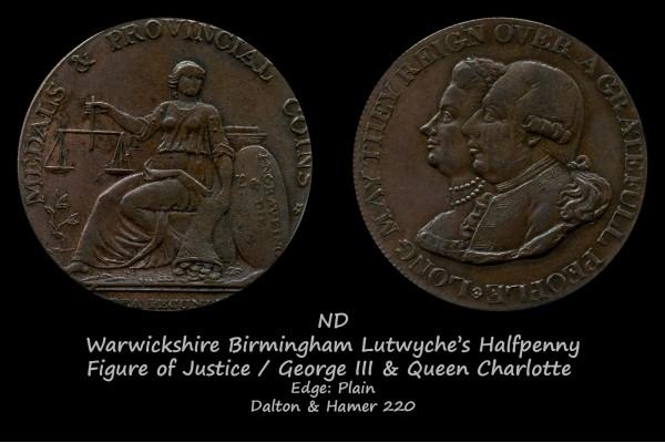 Warwickshire Birmingham Lutwyche's Halfpenny D&H220