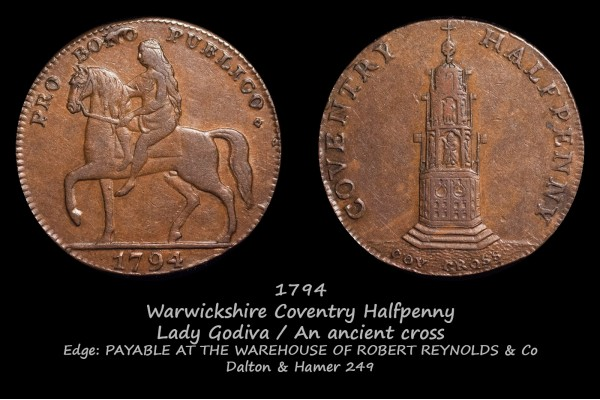 Warwickshire Coventry Halfpenny D&H249