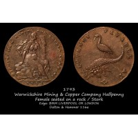Warwickshire Mining & Copper Company Halfpenny D&H 116a