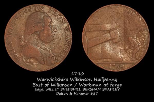Warwickshire Wilkinson Halfpenny D&H 387