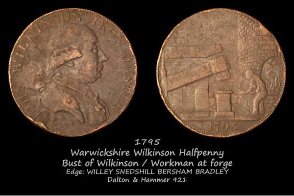 Warwickshire Wilkinson Halfpenny D&H 421
